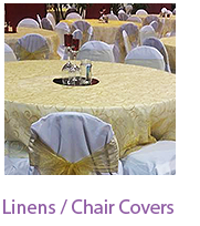 Linens and Chair Covers